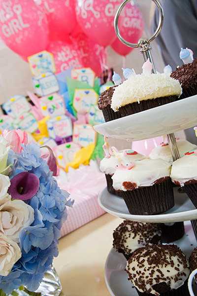 Menus for baby shower